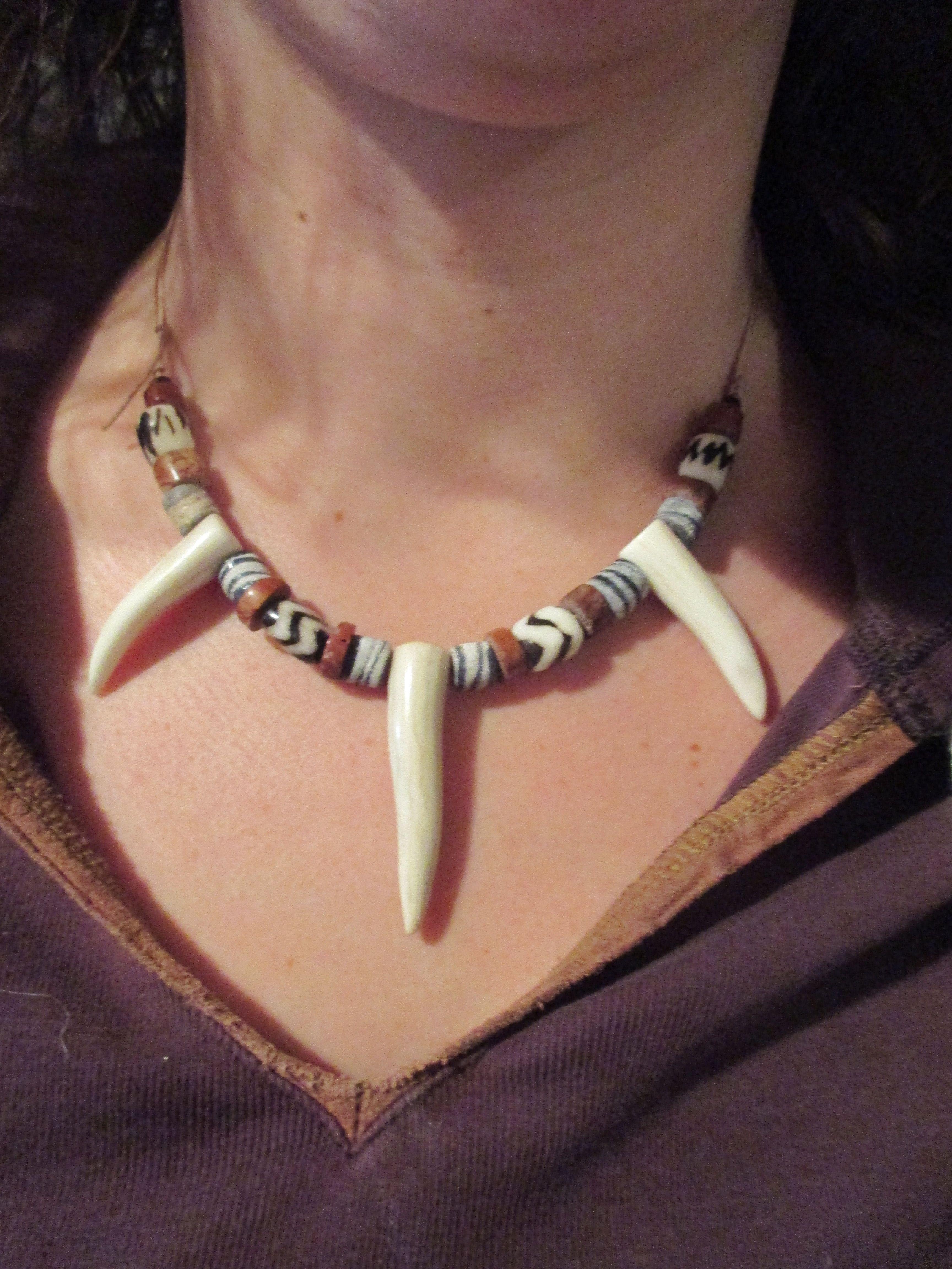 Antler tip necklace