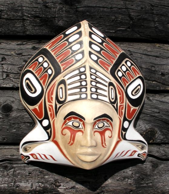 masks, woodcarvings, Alaskan Art, Eagles, Native design inspired
