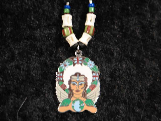 Goddess Art, Earth, Mystic Art, Tallismanic Jewelry, necklace