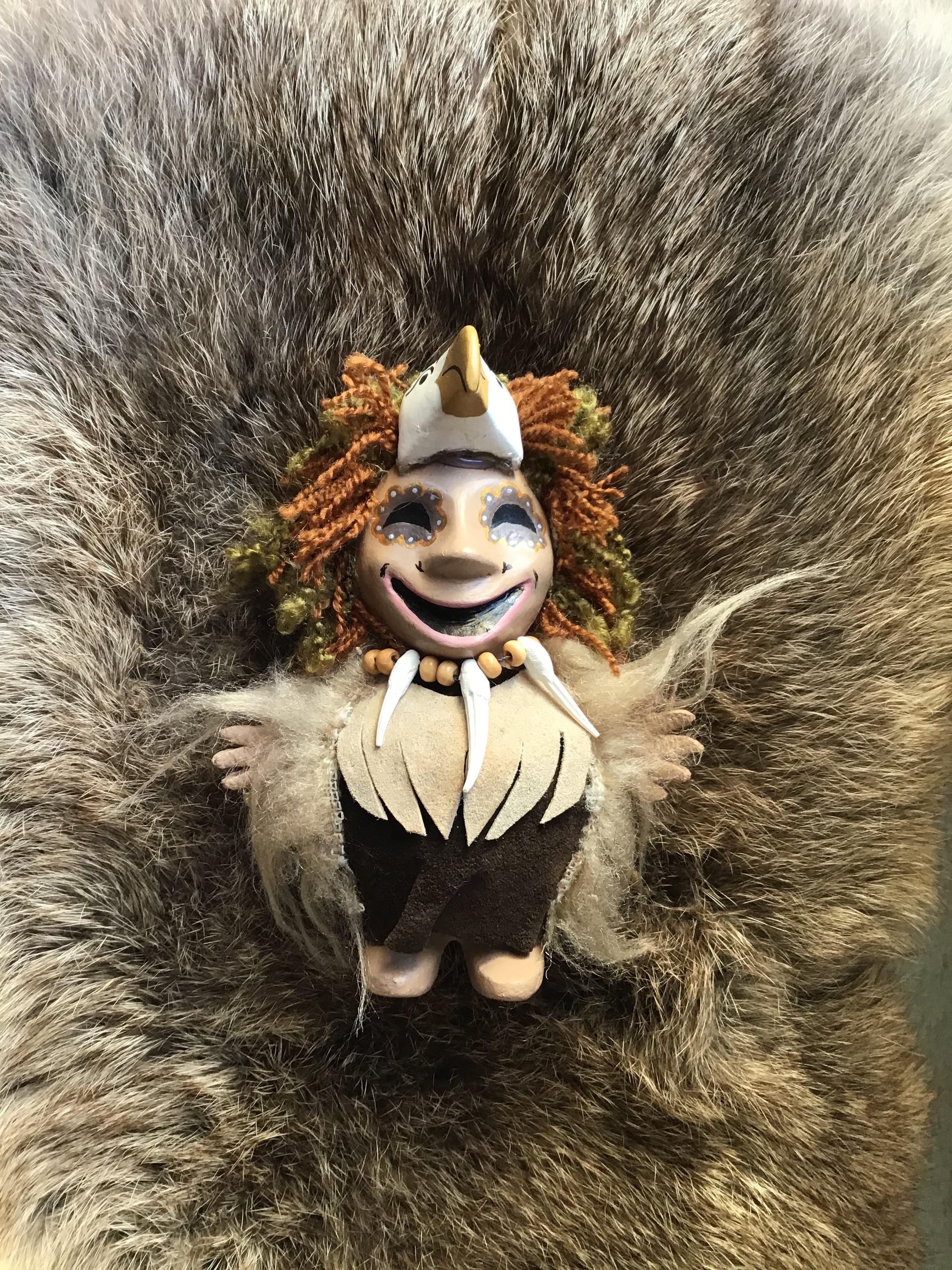 Eagles, figurines, shamans, Alaskan Art, good mood,
