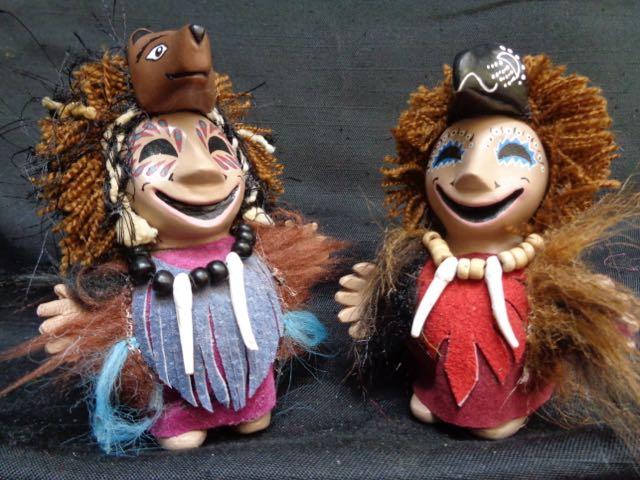 Bears, ravens, figurines, shamans, Alaskan Art, good mood,