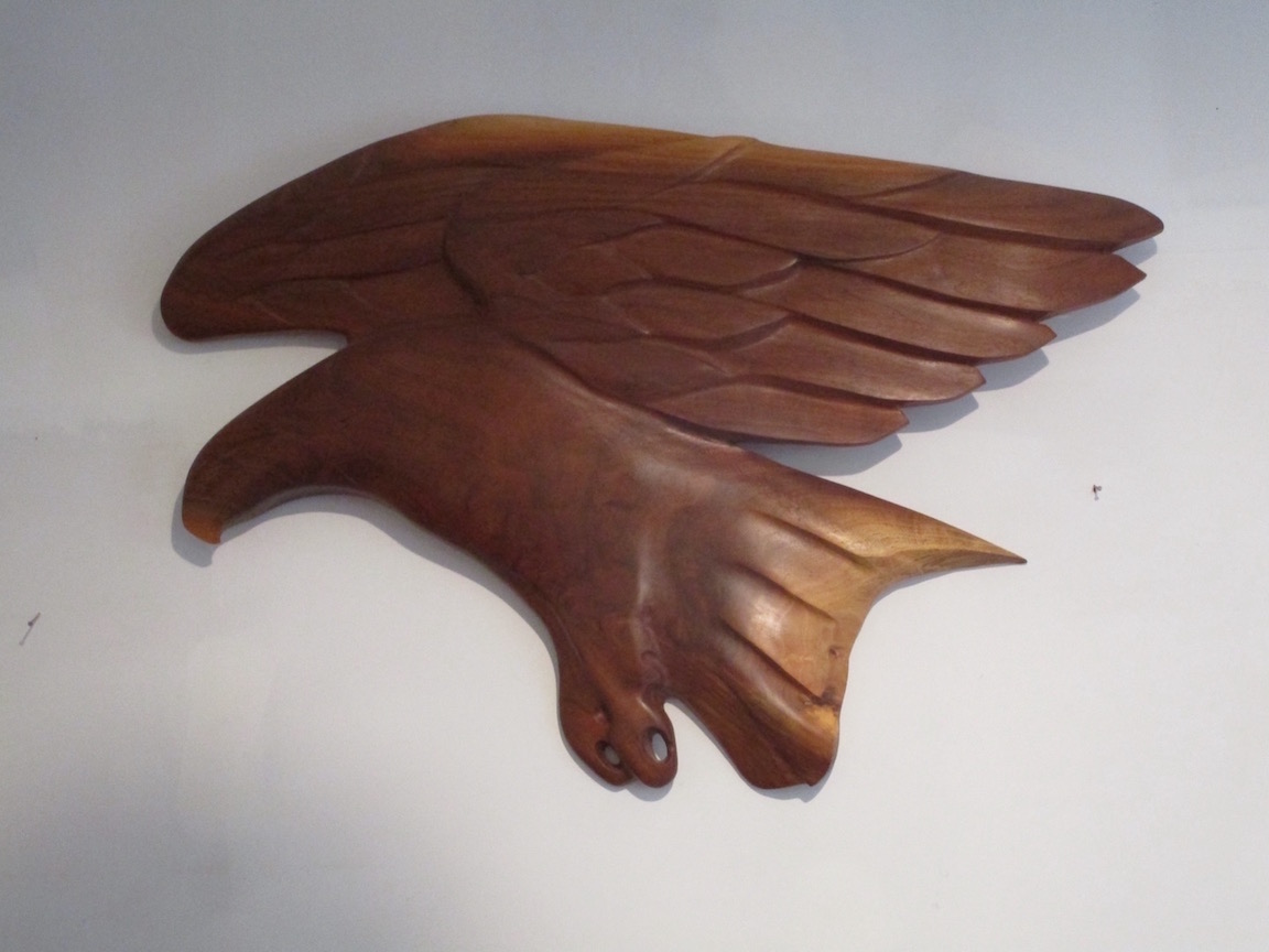 Eagles, woodcarvings