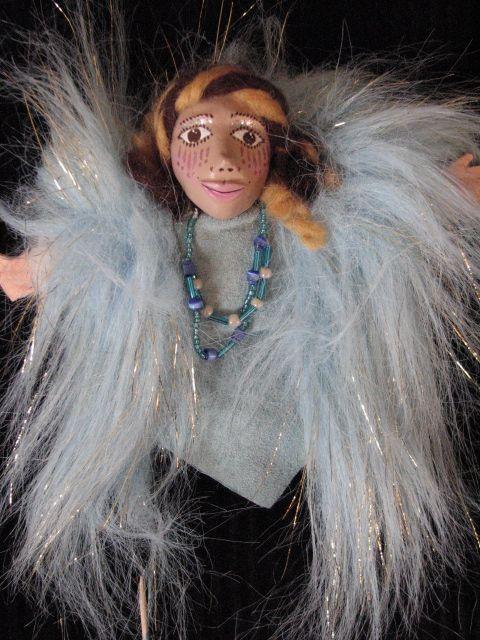 finger puppet, aurora borealis, Goddess,