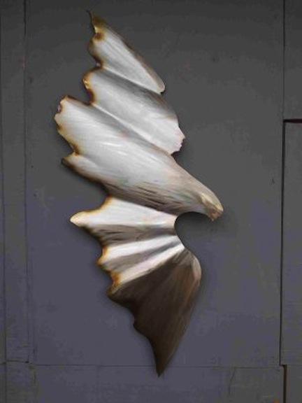 Alaskan Art, Tresham Gregg, wall sculpture, eagles, hand made