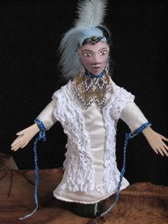 unique hand made artistic hand puppet doll, fairy