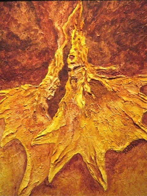 Northwest Native tribal dance, Peace, acrylic painting, Alaskan Art, Tresham Gregg