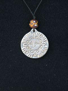 spirit talisman, sun design, pewter pendants