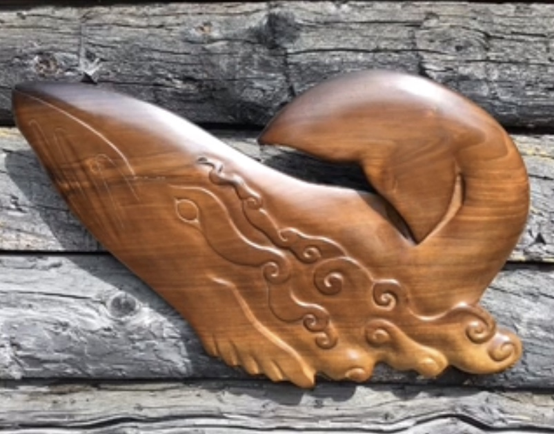 whale, woodcarving, Alaskan Art,