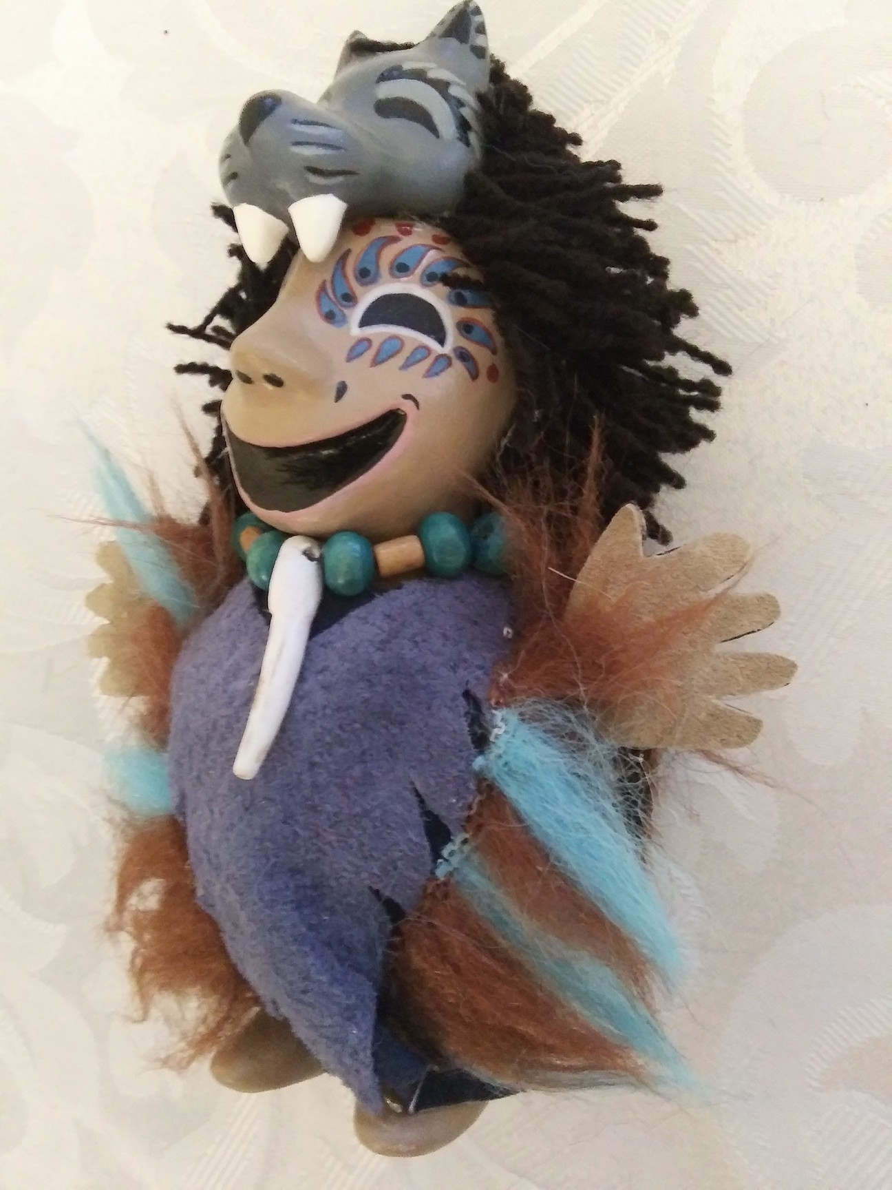 shamans, wolf, figurines, talismans, Alaskan Art