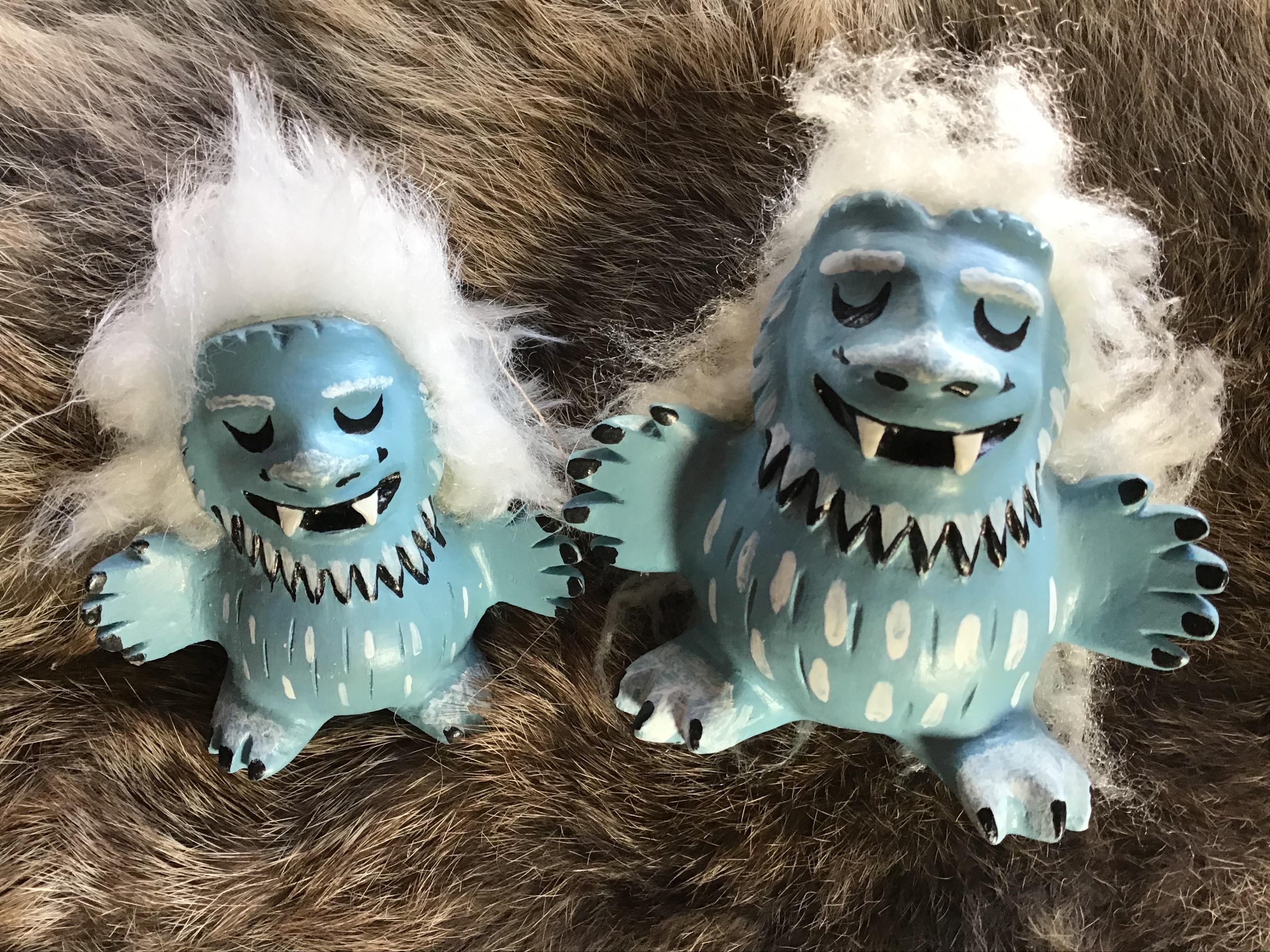 Yeti, figurines, critters