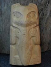 Bears, Totem Pole, Alaskan Art, woodcarving,