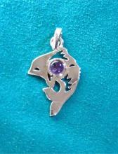 dolphins, pendants, handmade silver jewelry.