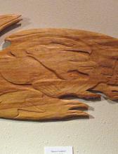 , ravens, , shamans, Alaskan Art, wall carvings