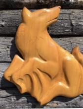 wolf, wall carving, Alaskan Art
