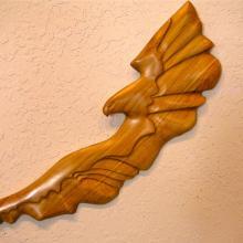 Northern Lights, Aurora Borealis, woodcaing, wall sculpture, Alaskan Art, Tresham Gregg,hand made