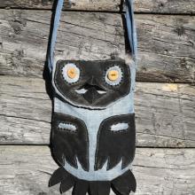 Owls, Fashion Handbags, Fantasy Apparrel, Alaskan Art, Handmade Art Handbags