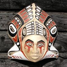 masks, woodcarvings, Alaskan Art, Eagles, Native design inspired
