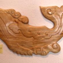 whale, wood carvings, wall sculpture, Alaskan Art, Tresham Gregg