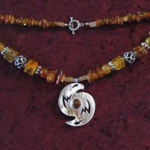 Talismanic Silver Jewelry, Shamanic Art, Alaskan Art, Power Necklace