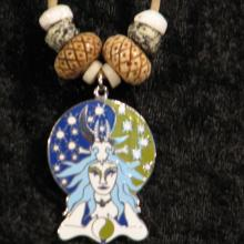 Talismanic jewelry, Mystic Art, Moon, Goddess jewelry