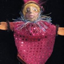 handmade Goddess Art finger puppet