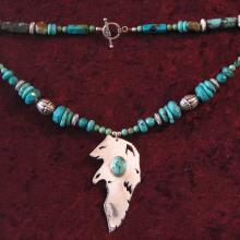 Talismanic Silver Jewelry, Shamanic Art, Alaskan Art, Power Necklace