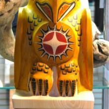 Raven, Alaskan mythology, woodcarving, totemic art, Tresham Gregg