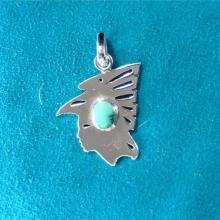 Ravens, spirit, talismans, guardian spirits, Alakan art, silver pendants,