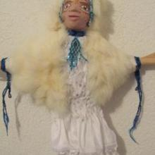 unique hand made artistic hand puppet doll