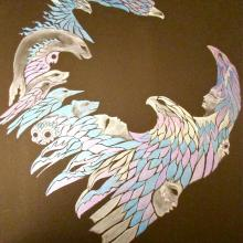 Cosmic gases, animist, spirit animals, t-shirt, Alaskan Art