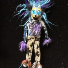 wolves, shaman,spirit, Alaskan Art, talisman, puppet, marionette