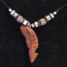 whales, talismanic shaman charms, tribal jewelry