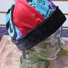 hand made artistic fabric patchwork hat