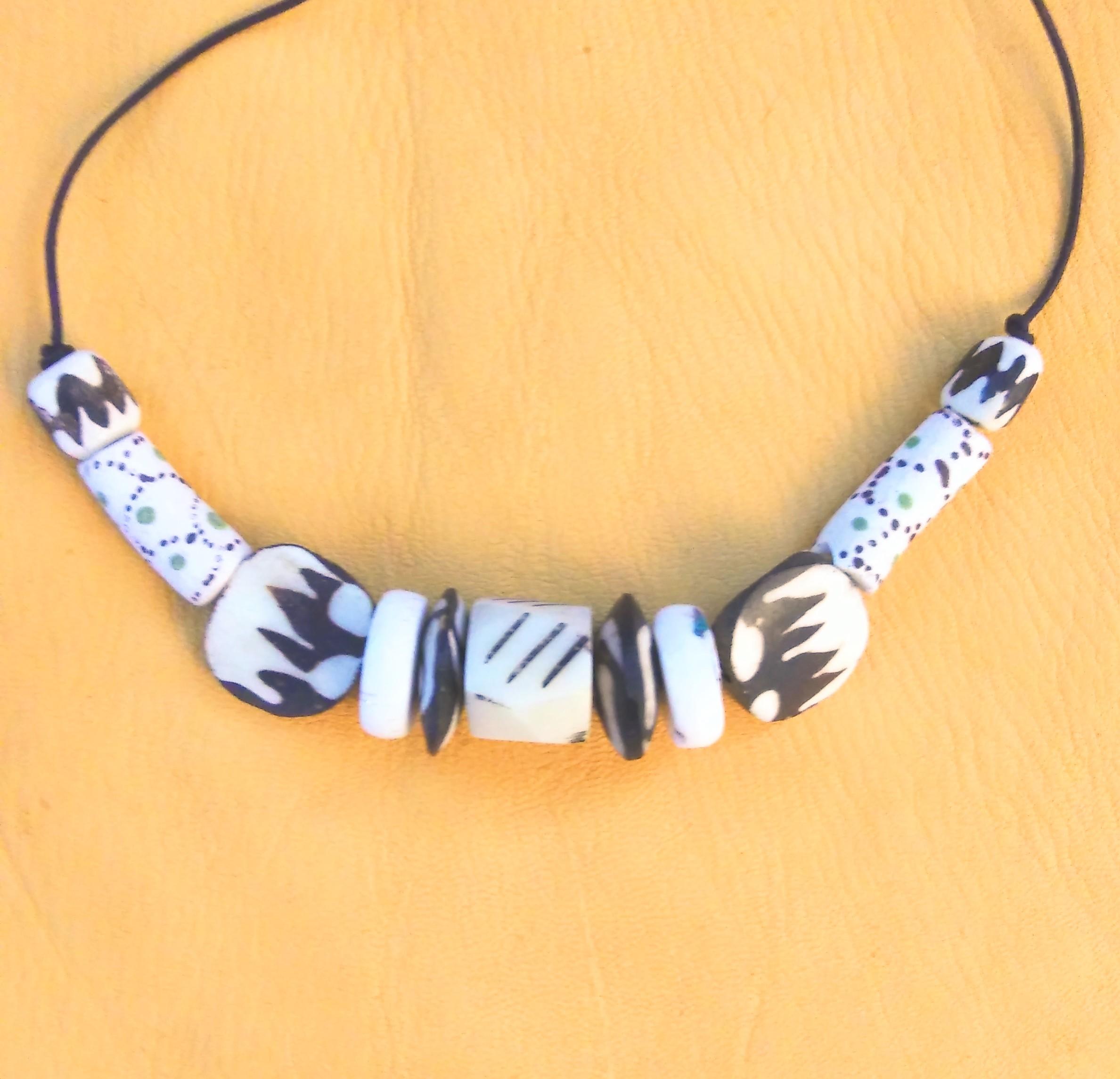 bone trade beads, shaman charm, tribal jewelry